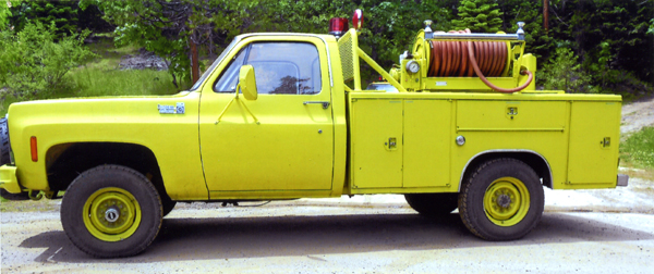1979 Chevy pumper truck, sold in 2012 - side view