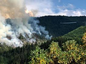 Ashland Watershed Fire - 15 July 2018