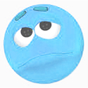 Emoticon: sad face (blue)