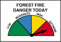 Fire Danger Level is EXTREME