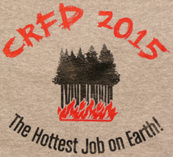 "2015 new T-Shirt, with ""Hottest Job on Earth!"" Slogan on Back (in grey)"