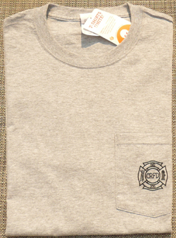 New 2015 T-Shirt - Front, Logo over Pocket (in grey)
