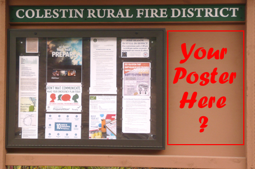 South Colestin valley Kiosk poster space: Your Poster Here?