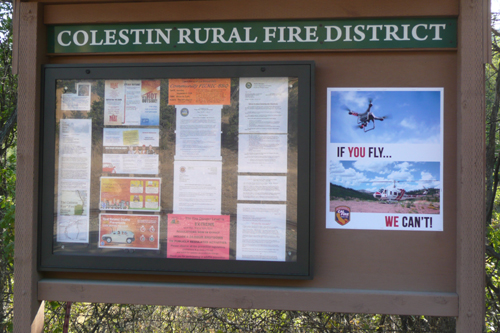 Later fire season 2016: CalFire's If You Fly, We Can't poster
